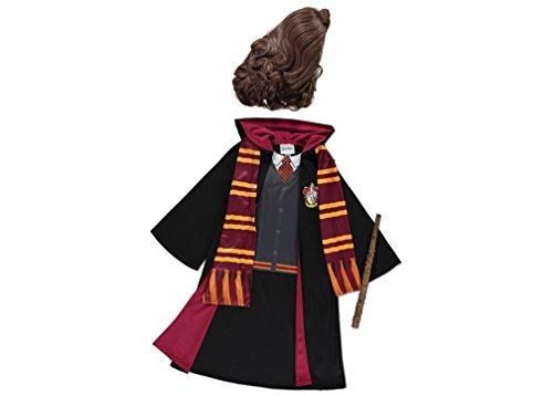 Officially Licensed Harry Potter fancy dress Hogwarts Hermione Granger Robe with Hermione Wig Wand u0026 Scarf. Book Week Costume for Girls aged 9-10 Years.  sc 1 st  Masquerade Costumes & Officially Licensed Harry Potter fancy dress Hogwarts Hermione ...