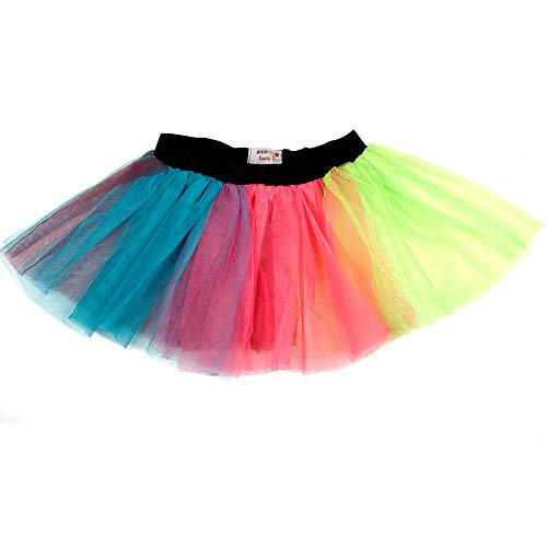 d4457b6863eed1 REDSTAR FANCY DRESS Ladies Neon Tutu Skirt 80s Party Outfit Hen ...